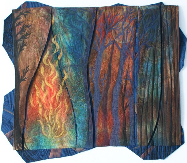 From an interview with fiber artist Anna Hergert of Moose Jaw, Saskatchewan, Canada. Anna very kindly did a guest blog post for our website about her discovery and enjoyment of kantha. / Agrow - fiber, collage, quilting