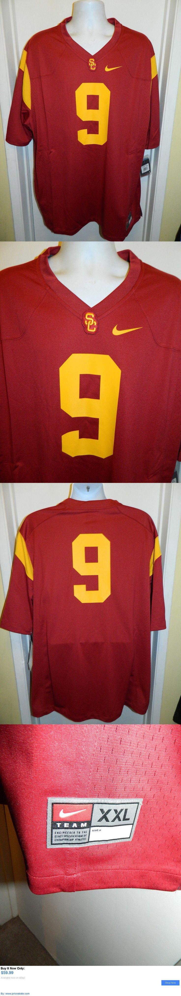 Sports Memorabilia: Usc Trojans New Nike College Ncaa Football Jersey #9 Mens 2Xl BUY IT NOW ONLY: $59.99 #priceabateSportsMemorabilia OR #priceabate