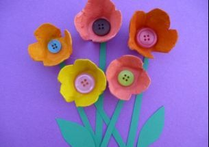 Crafts for kids - how to make egg box flowers - Netmums