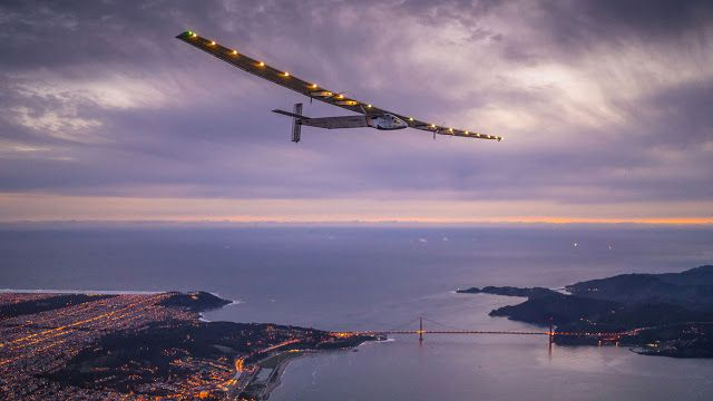 [TECHNOLOGY] Solar-powered plane to soar again on round-the-world flight   This handout photo taken on April 23 2016 and released by Solar Impulse 2 shows Solar Impulse 2 a solar-powered plane piloted by Swiss adventurer Bertrand Piccard flying over the Golden Gate bridge in San Francisco California. Solar Impulse 2 an experimental plane flying around the world without consuming a drop of fuel landed in California one leg closer to completing its trailblazing trip. / AFP PHOTO / Solar…
