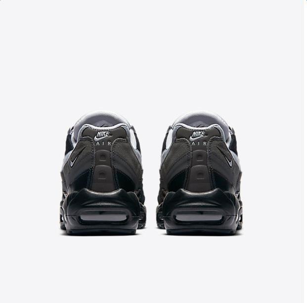 designer fashion 84378 e777a Chaussure Nike Air Max 95 Pas Cher Homme Essential Noir Anthracite Gris  Froid Gris Loup