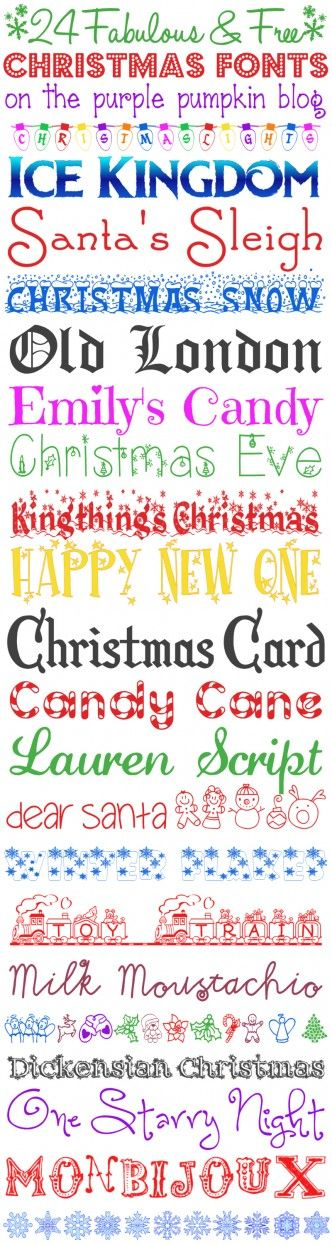24 Fabulous and Free Christmas Fonts. Made it! Ice Kingdom is just like Frozen font!!!!