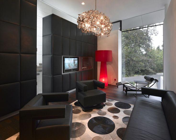 Awesome Dark Hardwood Floors And White Kitchen