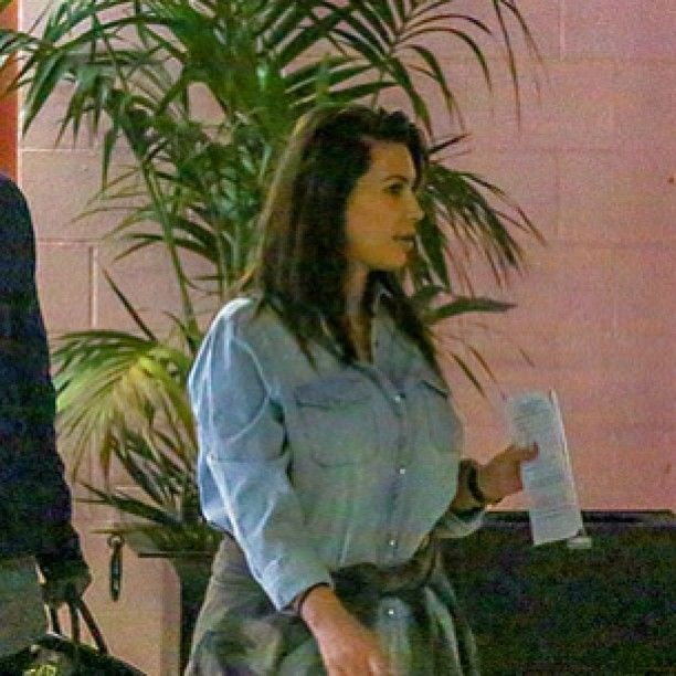 New mom Kim Kardashian WITHOUT her extensions. If you want