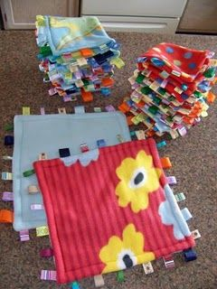 Taggie Blankets and Burp Clothes Sewing project- love these!