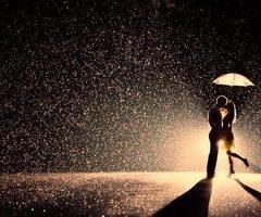 rain umbrella love