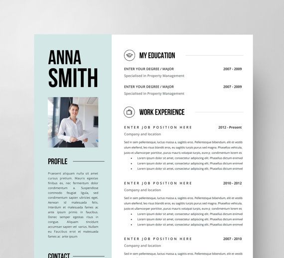 60 best Creative and professional Resume Templates images on - resume microsoft word template