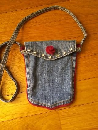 Cell phone case made from recycled jean pockets. | See more about Cell Phone Cases, Phone Cases and Pockets.