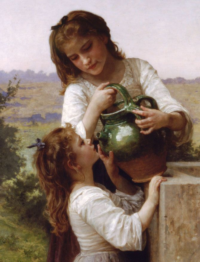 A la fontaine ~ William Bouguereau ~ French artist.
