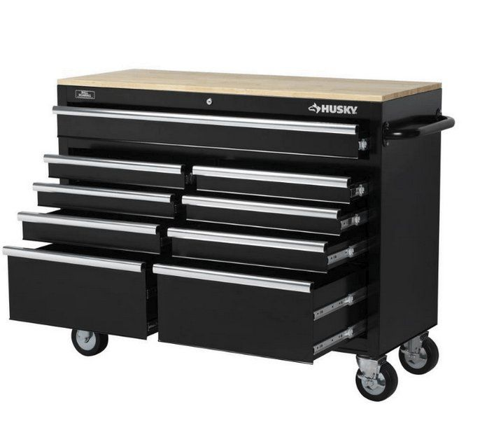 Win a $300.00 Husky 46 Inch Mobile Workbench w/ 9 Drawers from Innovant Supply. The Mobile Work Center also has an internal keyed locking system, with 2 keys provided, for added security.    Get your entry submitted today.