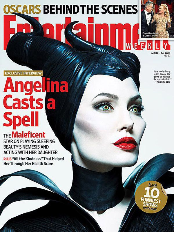 all angelina jolie magazine covers | Angelina Jolie and Daughter Vivienne Featured in New 'Maleficent ...