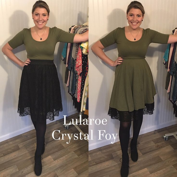 Lularoe outfit! Try this amazing combo, Lola over a Nicole and Lola under a Nicole! #ootd #fallfashion #anklebooties www.facebook.com/groups/lularoecrystalfoy
