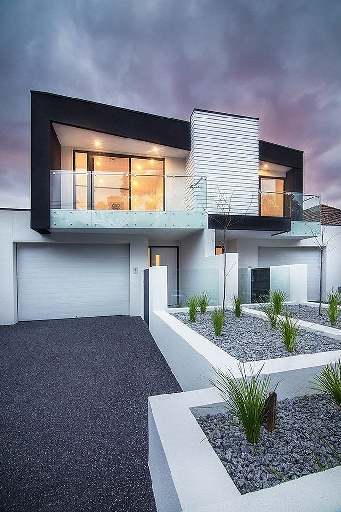 Contemporary exterior of the multi townhouse units in Melbourne Brighton Duplex…