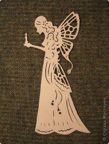 Картина панно рисунок Вырезание Женские образы Бумага фото 5