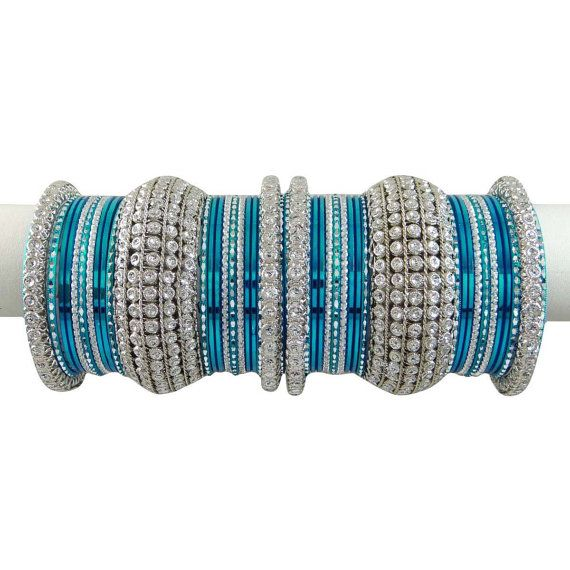 Indian Traditional Jewellery Designer Bangles Blue by Abhusana