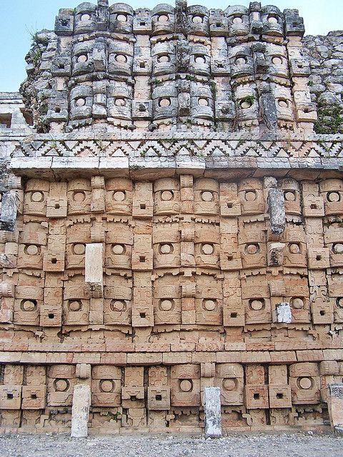 Temple of the Masks, Kabah, Mexico http://en.wikipedia.org/wiki/Kabah_%28Maya_site%29 (Thx Shasta)
