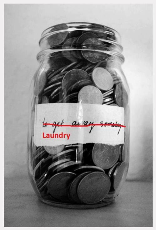 High school grad party. Put a jar out for quarters at grad party for laundry.