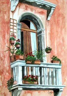 Lucio Sollazzi - Balcony In Venice.