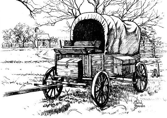 Pencil drawings of Wagons | Elaine Bawden › Portfolio ...