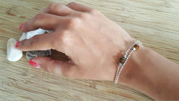 Collection Pure // Bracelet Oeil de Tigre et Argent 925 par Piuvita #bijoux #jewels #stone #pierresemiprecieuse #bracelet #handmade #faitmain #œildetigre #tigereye #jewelry #madeinfrance #faricationfrancaise #silver925 #argent925 #bijoufin #minimaliste #minimalist