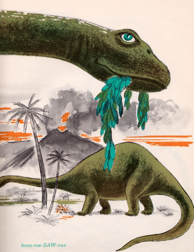 A Dozen Dinosaurs by Richard Armour, illustrated by Paul Galdone. McGraw-Hill Book Company in 1967.