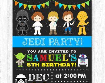 Star Wars Invitation Star wars Invite Star wars by funkymushrooms