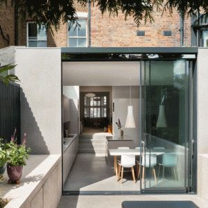 Architecture for London creates light-filled  London extension using polished materials