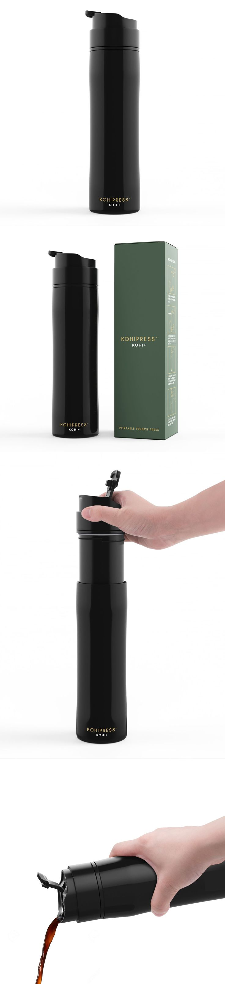 Presso pump 3D visualization: KohiPlus || #product #productdesign #packaging #packagingdesign #coffee #coffee #thermos #vacuumflask #3Drender #3Dcompositing #photorealistic #3D #coffeethermos