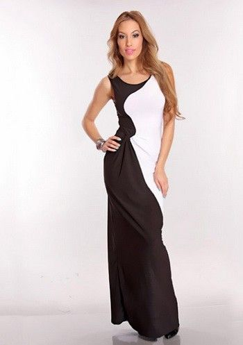 Wholesale Black And White Gown One Color White  -$11.20