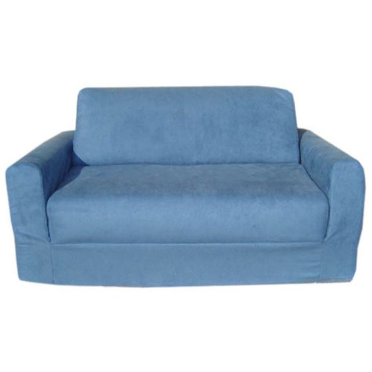 Fun Furnishings Micro Suede Sofa Sleeper Blue - 11231