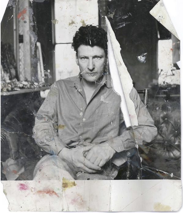 Lucian Freud photographed by John Deakin, found on the floor of Francis Bacon's studio