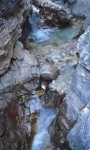 Little waterfall on the rio chillar walk to Frigiliana