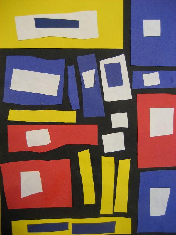 Piet Mondrian Squares- Complementary Colors