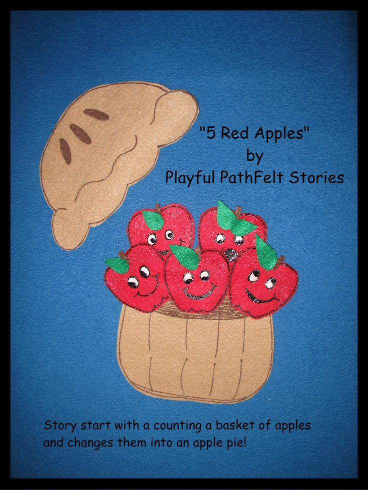 5 Red Apples by PlayfulPathFelts on Etsy