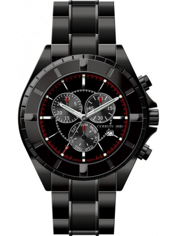 Mens Black Dial Color Chrono Watch Buy Online Mens Black Dial Color Chrono Watch at best price in India. Cerruti is an international fashion brand that has been bringing style and quality forms a class of its own.