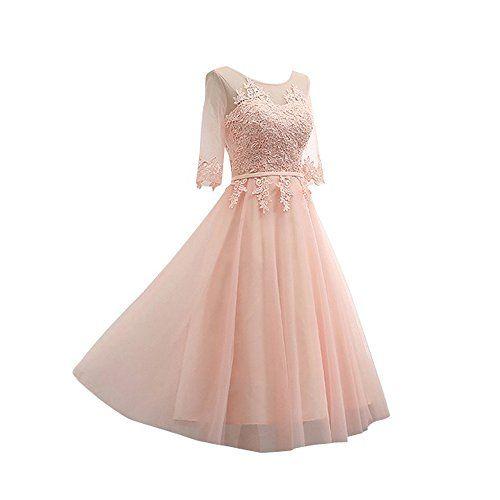 La_Marie Bride Glamour Pink Lace Abendkleider Festliche Kleider Jugendweihe Dress