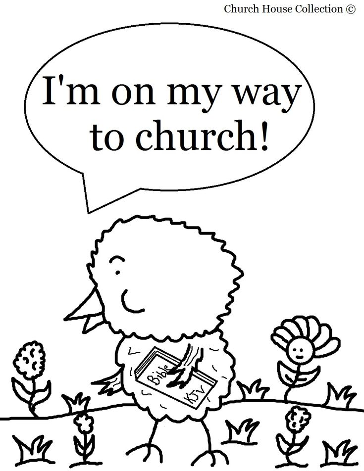 "Easter Chick Coloring Page For Sunday School Kids ""Chick"