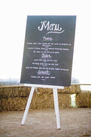 White Wedding Signage Easel - Lovebird Weddings, Noosa Australia