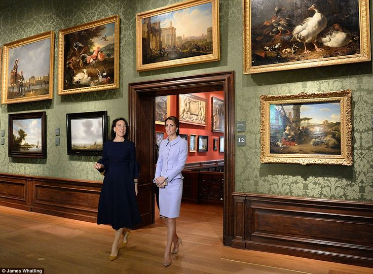 The Duchess of Cambridge visits the Mauritshuis in The Hague for the exhibition 'At Home i...