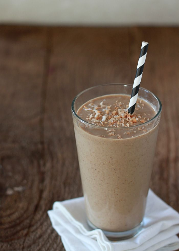 Toasted Coconut Coffee Smoothie | Kitchen Treaty | See more about toasted coconut, coconuts and coffee.