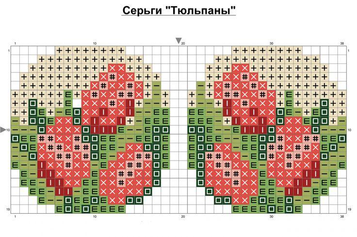 """""""Остапа понесло """" или бонус к уроку брошей / Схемы / Бусинка"""