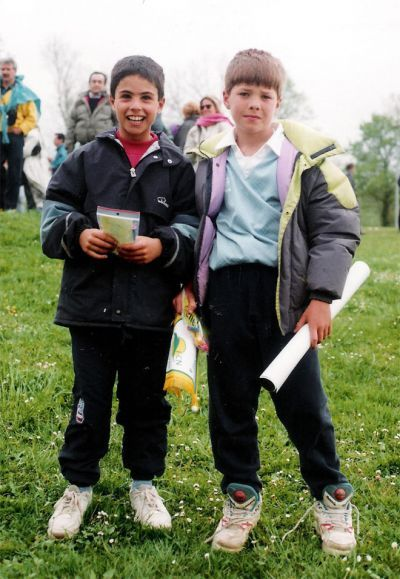 ~ Mikel Arteta and Xabi Alonso as youngsters both playing for Antiguoko, an Amateur Spanish Club that was a feeder club for Real Sociedad. The two went their separate ways when Xabi Alonso went to Real Sociedad and Arteta went to the Barcelona B team ~