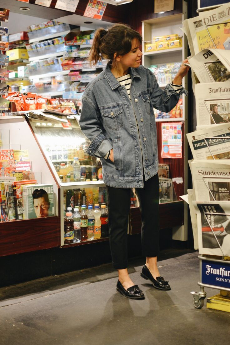 """Catie in her Edited the Label """"Isabell"""" Jean Jacket for hey woman!"""