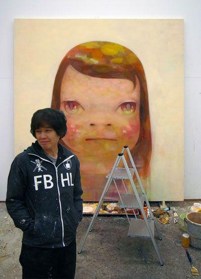 """""""Girls, Girls, Girls! Where the Artists Yoshitomo Nara Conceives His Enchanting Enfants Terribles."""" W May 2013"""