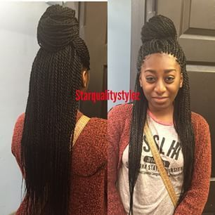 Image result for waist length senegalese twists
