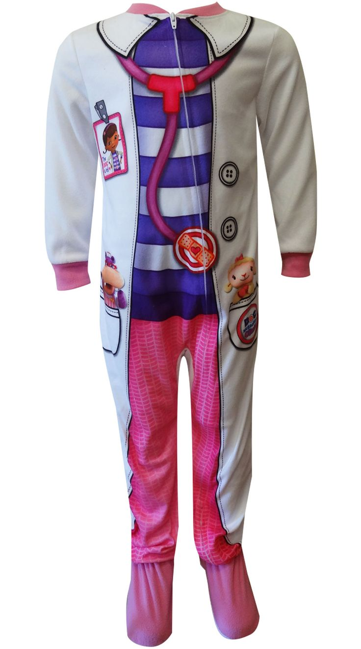 WebUndies.com Disney Doc McStuffins Dress Like A Doctor Toddler Footie Pajama