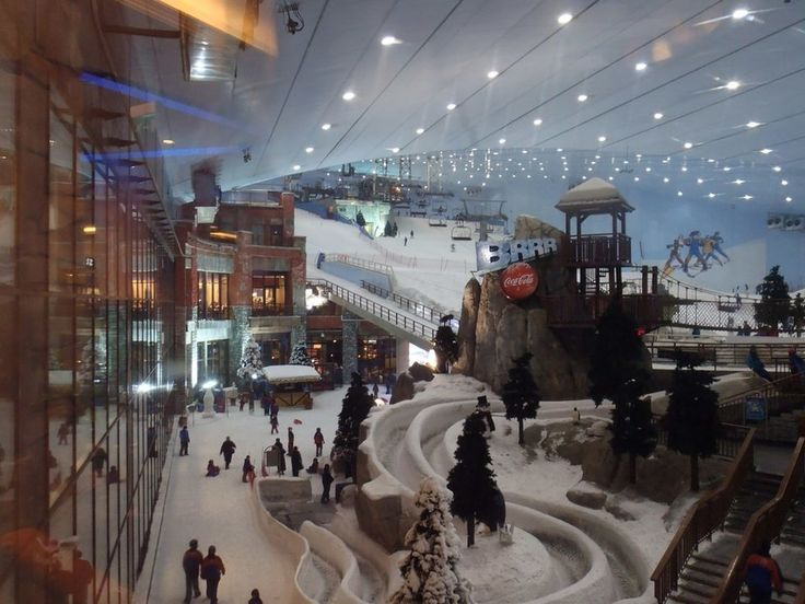 Ski Dubai: This indoor ski resort has a mountain contained inside a mall