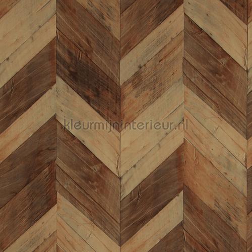 Grote visgraat hout bruin behang 217993 uit de collectie Essentials 2016 van BN Wallcoverings voordelig bij kleurmijninterieur