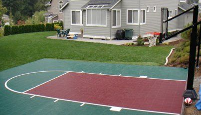 36 best ideas about backyard basketball courts on for Custom basketball court cost