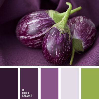 Gamma muted shades of purple, gray and white, dark pistachio. The color combination will find its use in the interior of a spacious living room, recreation room, which is supposed to be used as a library or a cinema. Smoky purple hues help focus on reading, watching a movie.